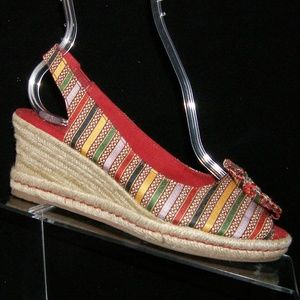 Naturalizer Berlynn multi-colored canvas wedge 6M